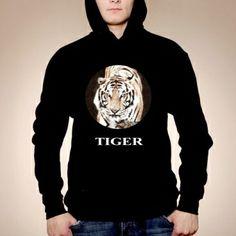Bluza męska z kapturem czarna TIGER
