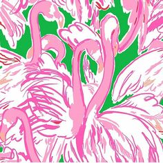 Pink Colony, Prep Green print (arrives after March Lilly Pulitzer Lilly Pulitzer Patterns, Lilly Pulitzer Prints, Lily Pulitzer, Fabric Patterns, Print Patterns, Tropical, Green Print, Pretty In Pink, Pink And Green