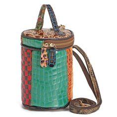 Women Genuine Leather Patchwork Bucket Bag Crossbody Bag 29b9c97755a29