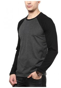 IZINC Men's Raglan Neck Full Sleeve Cotton T-Shirt at fashionothon.com online at low price Mens t shirt, full sleeve t shirts, round neck t shirt, long sleeve t shirts, fashionothon Shop online - http://www.fashionothon.com/men/trending-tees/Izinc-Raglan-Neck​-t-shirt