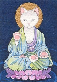 Moussart: - buddha cat!