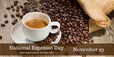 Before the advent of the espresso machine, espresso was simply a coffee expressly made for the person ordering it and made with recently roasted beans which were freshly ground before brewing and freshly brewed before serving.  #NationalEspressoDay