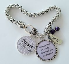 PERSONALIZED Daughter in Law Gift / Step Daughter Gift / Step Daughter Bracelet / Gift for Step Daughter / Daughter in Law Wedding Gift by KainsBoutique on Etsy