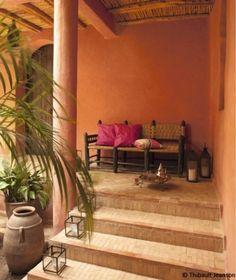 1000 images about stone wood ochre on pinterest wooden - Maison marocaine avec patio ...