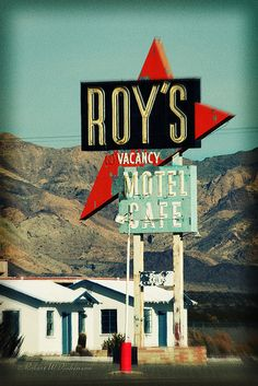 Vacancy at Roy's Motel & Cafe on Route 66, Amboy, CA