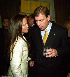 Prince Andrew, Duke of York and Koo Stark at a champagne reception in aid of the NSPCC at Spencer House in 1999