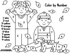 Color by Number Pages for a Fall Theme