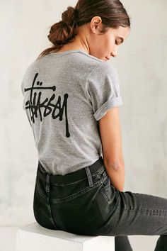 Stussy Basic Stock Heather Tee - Urban Outfitters
