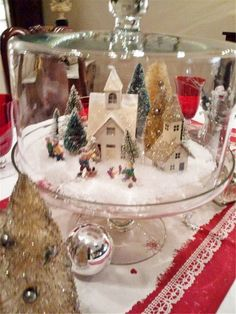 Christmas Decorations, Christmas tree Decorations, Table Decorations, DIY Christ… – Welcome My World Christmas Jars, Diy Christmas Tree, Christmas Villages, Outdoor Christmas, Christmas Time, Natural Christmas, Beautiful Christmas, Indoor Christmas Decorations, Christmas Centerpieces