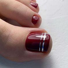 Pin on Nails Pin on Nails Pretty Toe Nails, Cute Toe Nails, Hot Nails, Simple Toe Nails, Cute Toes, Pedicure Colors, Pedicure Nail Art, Red Pedicure, Summer Pedicure Designs