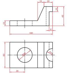 Teknik Resim Görünüş Çıkarma Örnekleri. Örnek Çizimler   Makine Eğitimi Mechanical Design, Technical Drawing, Autocad, Line Chart, Diagram, Drawings, Drawing Techniques, Projects, Drawing