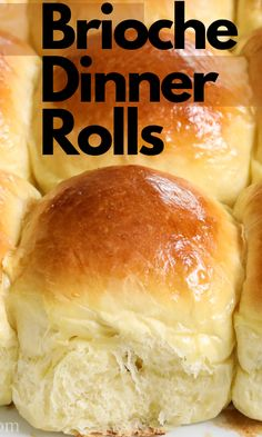 These Soft Brioche Dinner Rolls are so deliciously buttery. Richly flavored and golden brown, they are the perfect complement to any meal. # Softbriochedinnerrolls #Dinnerrolls #Softbrioche #bread #Sidedish #briochebread #Briochedinnerrolls Side Dish Recipes, Gourmet Recipes, Baking Recipes, Dessert Recipes, Best Bread Recipe, Good Food, Yummy Food, Homemade Sauce, Dinner Dishes