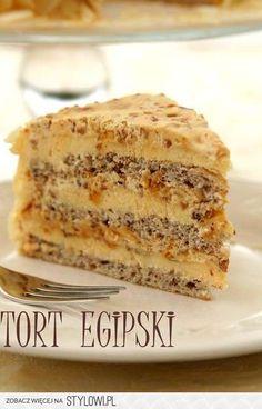 Tort egipski Składniki na ciasto: 2 białka 2 łyżki cuk… na Stylowi.pl
