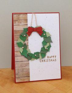 Beth's Little Card Blog: Rustic Christmas Wreath