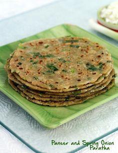 Paneer and Spring Onion Paratha recipe   Children's Recipes, Kids Recipes   by Tarla Dalal   Tarladalal.com   #1858