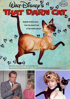 Walt Disney's That Darn Cat! (1965) starring Hayley Mills & Dean Jones — Soundtrack LP Cover