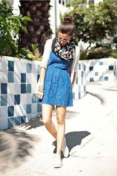 Blue 7 black dress urban