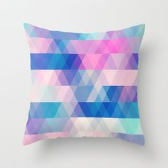 diamonds Throw #Pillow by Sylvia Cook Photography - $20.00 #abstract #pattern #pastel #homedecor