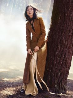 Jacquelyn Jablosnki by Will Davidson for Glamour US November 2015 - Dior Fall 2015 coat