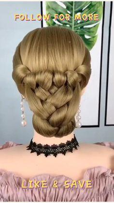 Short Hair Makeup, Hairdo For Long Hair, Bun Hairstyles For Long Hair, Braided Hairstyles, Hairstyles For Girls, Trendy Hairstyles, Hair Up Styles, Hair Braiding Styles, Easy Braid Styles