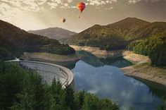 the most beautiful. Balloon Rides, Hot Air Balloon, Romania, Places Ive Been, Things To Do, Balloons, Scenery, River, Adventure