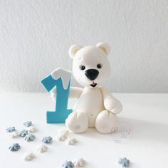 Polar bear, polarbear, Fondant, caketopper, Handmade, Eisbär, Bär