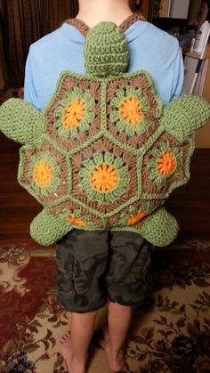 #Crochet Turtle Backpack #TUTORIAL crochet animals DIY backpack Fun crochet