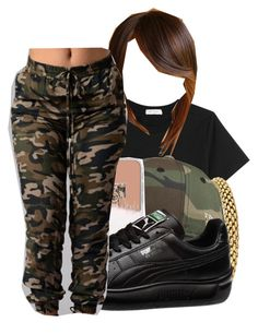 """""""camo"""" by trapsoul4life ❤ liked on Polyvore featuring Thierry Mugler and Puma"""