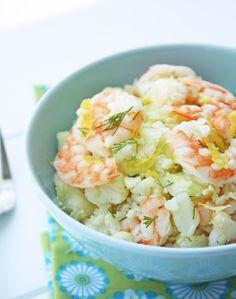 Shrimp & Cauliflower Salad w/ Lemon & Dill - I Breathe... I'm Hungry...