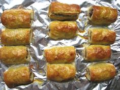 Sausage Rolls (British-style Pigs In a Blanket)  Ingredients  1 pound puff pastry, thawed if frozen  1 pound pork sausage (casings removed if necessary)  1/4 cup Dijon mustard  1 egg, beaten