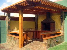Patio Pergola, Backyard Patio Designs, Pergola Kits, Pergola Ideas, Design Barbecue, Parrilla Exterior, Outdoor Oven, Design Jardin, Patio Flooring