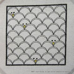 This would be cute as a easter quilts, chicks peeking out from easter eggs