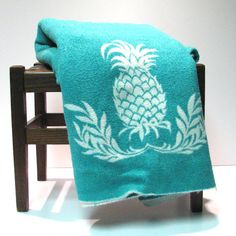 Lovely Vintage Camp Blanket with Pineapple by VintageCreekside, $12.00