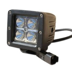 "Tuff Stuff Performance 2 ""X2"" del camino llevó la luz del punto con doble haz de faros antiniebla (Single) - 900 lumen 3W LED: Amazon.com: Automotive"