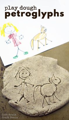 Create your very own petroglyphs with this textured sand dough.