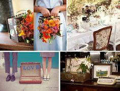 Travel Wedding Inspiration:Vintage Suitcases. Have your flower girls carry them instead of a basket. Use them as centerpieces 2.