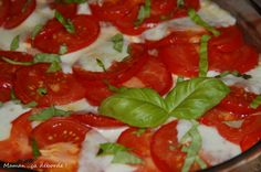 Gratin de riz, tomate et mozzarella