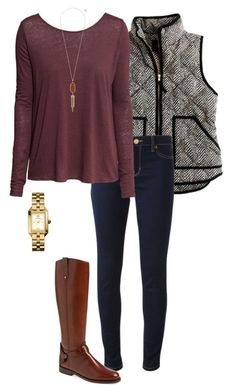"""faaaaaallllllll"" by sassy-and-southern ❤ liked on Polyvore featuring Michael Kors, H&M, Tory Burch and Kendra Scott"