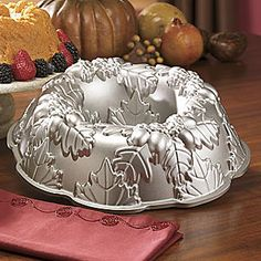 Nordic Ware Bundt Pan, Autumn Wreath from Seventh Avenue ® Wilton Cakes, Cupcake Cakes, Cupcakes, Nordic Ware Bundt Pan, Shaped Cake Pans, Baking Accessories, Baking Tins, Cake Tins, Cooking Tools