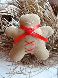 Купить Текстильные пряничные человечки - коричневый, тильда пряник, пряничные человечки, ароматный пряник