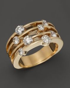 Circular 14 Kt. Yellow Gold and Diamond Ring, 0.25 ct. t.w. | Bloomingdales's