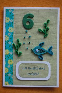 Carte de quilling poisson