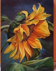 Oil Painting Flowers, Watercolor Flowers, Painting & Drawing, Watercolor Paintings, Sunflower Pictures, Sunflower Art, Sunflower Wallpaper, Pictures To Paint, Botanical Art