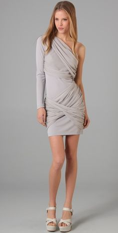alice + olivia one sleeve godess dress $207.90