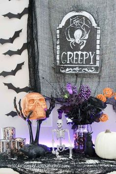 Pinterest: @MagicAndCats ☾ Halloween Decor with LIGHTIFY Lighting | missfrugalfancypants.com