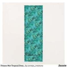 Fitness Mat Tropical Dreams Asana Project Management, Meditation Mat, Women's Fitness, Workout Accessories, Mat Exercises, Cottage Living, Bohemian Decor, Print Design, Tropical