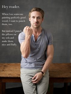 Ryan Gosling + Apartment Therapy