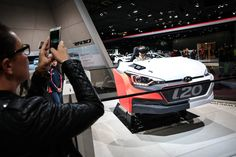 "Animation HYUNDAI ""conduisez une I20"" #MondialAuto Crédits photo : Bitton"