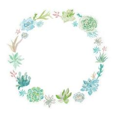 Silhouette Design Store: watercolor succulent wreath