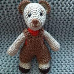 Medvídek v kalhotkách Crochet Dolls, Teddy Bear, Toys, Animals, Activity Toys, Animales, Animaux, Toy, Teddybear